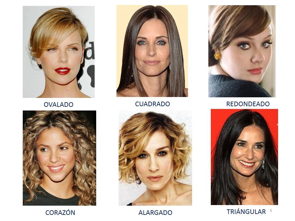 Tipos de rostros femeninos cortes de cabello