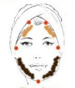 rostro triangular o de pera