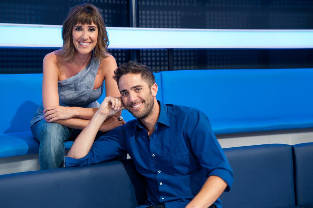 Roberto Leal y Sandra Daviú. Espejo Público