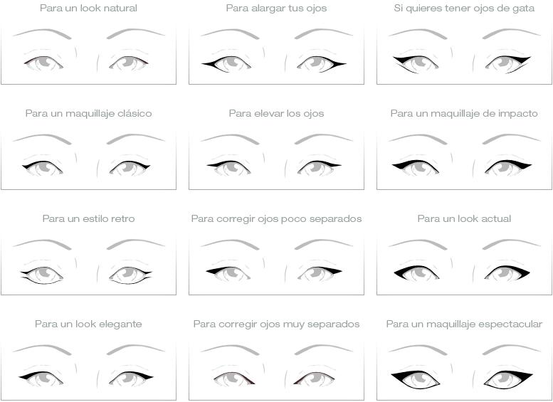eyeliner formas